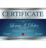 Certifikatmallen — Stockvektor