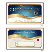 Voucher, Gift certificate, Coupon template — Stock Vector