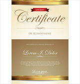 Certificate template — Stock Vector