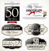 Anniversary labels — Vettoriale Stock