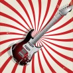 Rock music retro background — Stock Vector