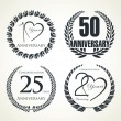 Stock Vector: Anniversary Laurel wreath