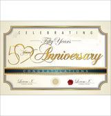 Anniversary background — Stock Vector