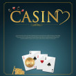 Stock Vector: Casino background