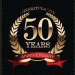 Anniversary golden label — Stock Vector #39388299