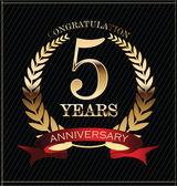 Anniversary golden label — Vecteur