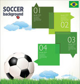 Soccer background — Stock Vector