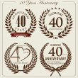 Anniversary laurel wreath, 40 years — Stock Vector