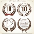 Stock Vector: Anniversary laurel wreath, 10 years