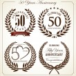 Stock Vector: Anniversary laurel wreath, 50 years