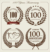 Anniversary laurel wreath, 100 years — Stock Vector