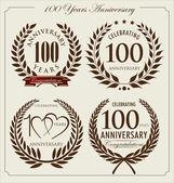 Anniversary laurel wreath, 100 years — Vetorial Stock