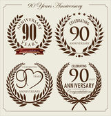 Anniversary laurel wreath, 90 years — Stock Vector