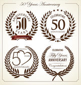 Anniversary laurel wreath, 50 years — Stock Vector