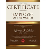 Certificate, employee of the month — Stock Vector