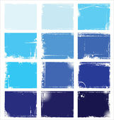 Blue Collection of grungy vector banners — Stock Vector