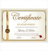 Golden Certificate template — Stock Vector