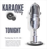 Fundo de festa de karaoke — Vetorial Stock