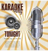 Karaoke party background — Vetor de Stock