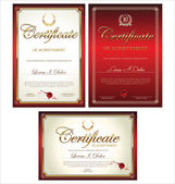 Plantilla de certificado — Vector de stock