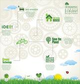 Modern ecology design — Stock Vector