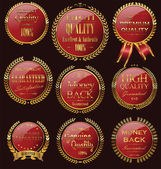 Set of vintage premium quality stickers and elements — Stock Vector
