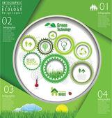 Modern ecology Design Layout — Stock Vector