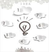 Light bulb idea background — Stock Vector