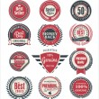Premium quality badges and labels — Stock Vector #42920537