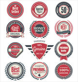 Premium quality badges and labels — Stock Vector