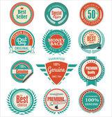 Premium quality badges and labels — ストックベクタ