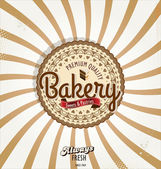 Bakery retro banner — Vector de stock