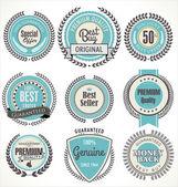 Premium kwaliteit badges en etiketten — Stockvector
