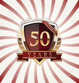 50 jaar verjaardag retro achtergrond — Stockvector