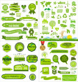 Mega collection ecology icons — Stock Vector