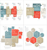 Collection of Infographic Templates — Stock Vector