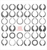 Laurel wreath collection — Stock Vector