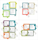 Infographic design template collection — Stock Vector