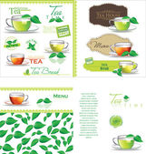 Tea background — Stock Vector