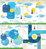 Weather forecast background collection — Vector de stock