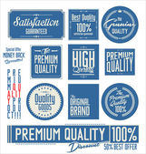 Collection of Premium Quality Labels — Stock Vector
