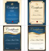 Certificate template, set — Stock Vector