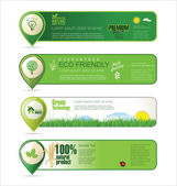 Ecology banner collection — Stock Vector