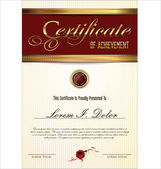 Certificaat of diploma sjabloon — Stockvector