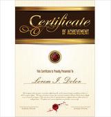 Certificaat of diploma sjabloon — Stockvector