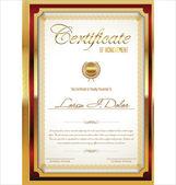 Modello di certificato — Vettoriale Stock