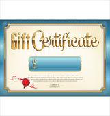 Gift Certificate template — Vector de stock