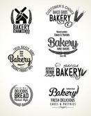 Set of bakery labels — Stock Vector