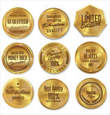 Golden metal badges — Stock Vector