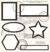 Post stamp set, vector illustration — Vecteur
